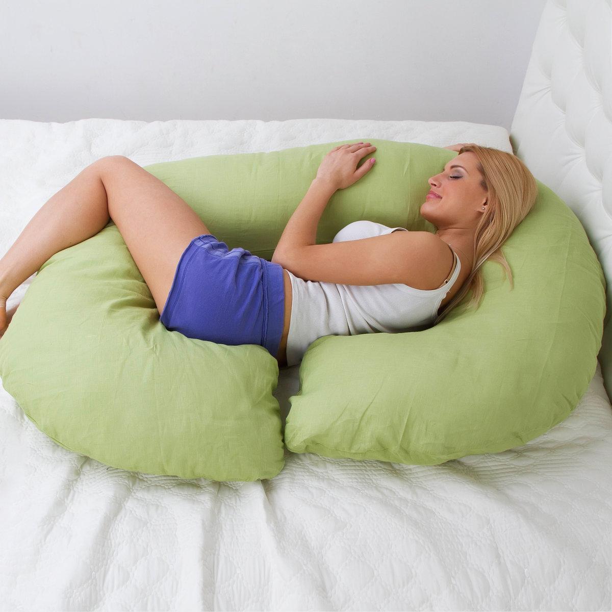 Применение подушки для беременных.