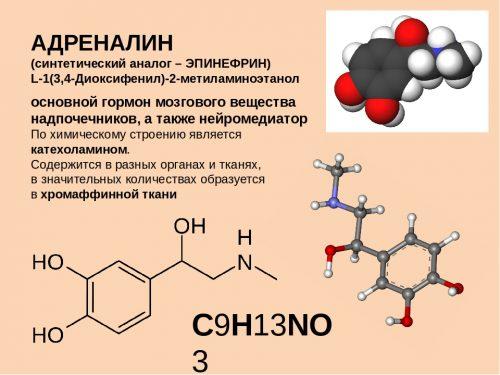 Адреналин - химическое вещество